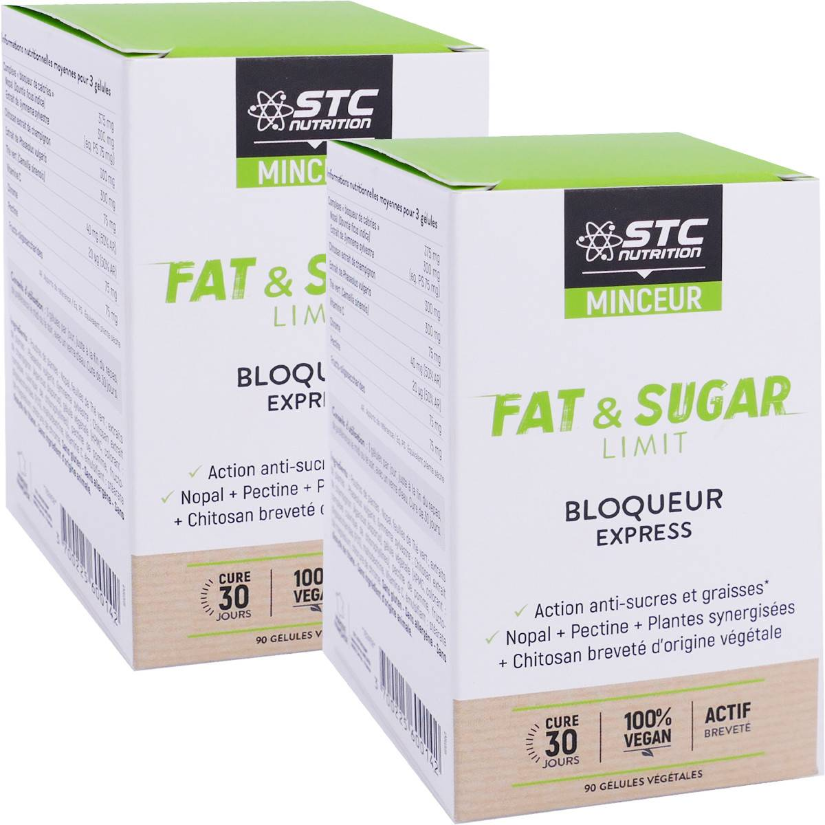 STC NUTRITION Pack promo stc minceur fat & sugar 2x 90 gelules