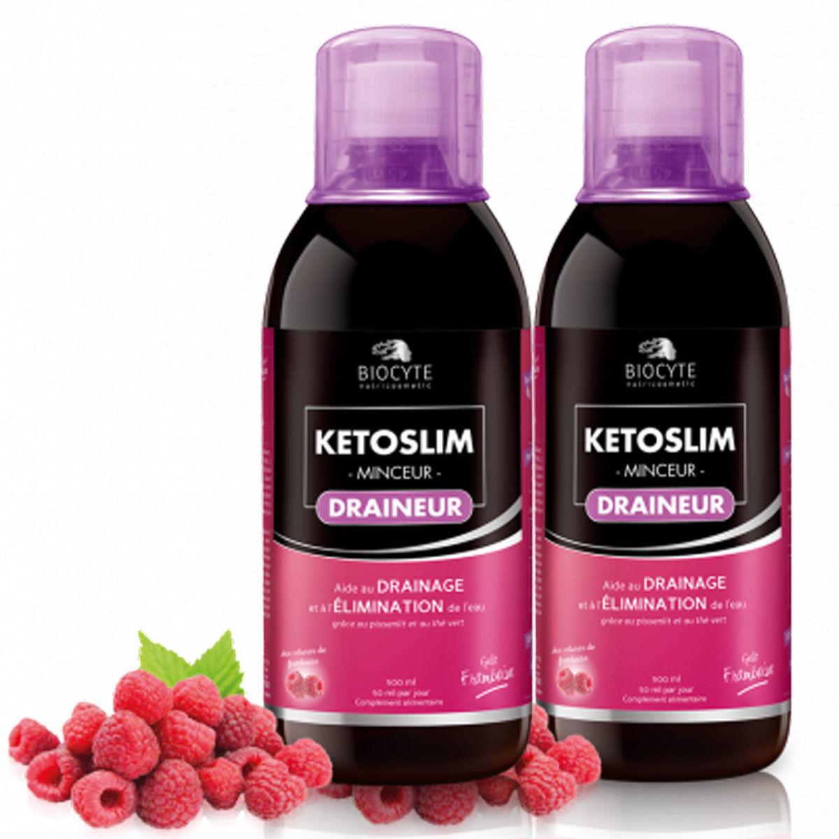 BIOCYTE Promo biocyte ketoslim draineur gout framboise 2x500 ml