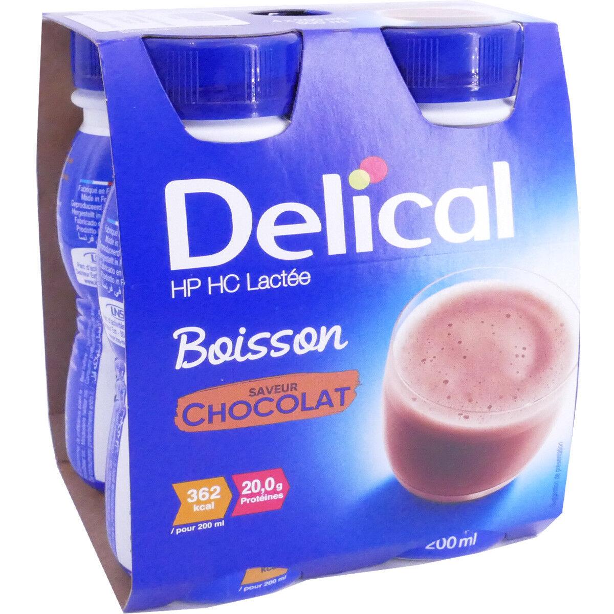 Delical boisson chocolat 4 x200ml