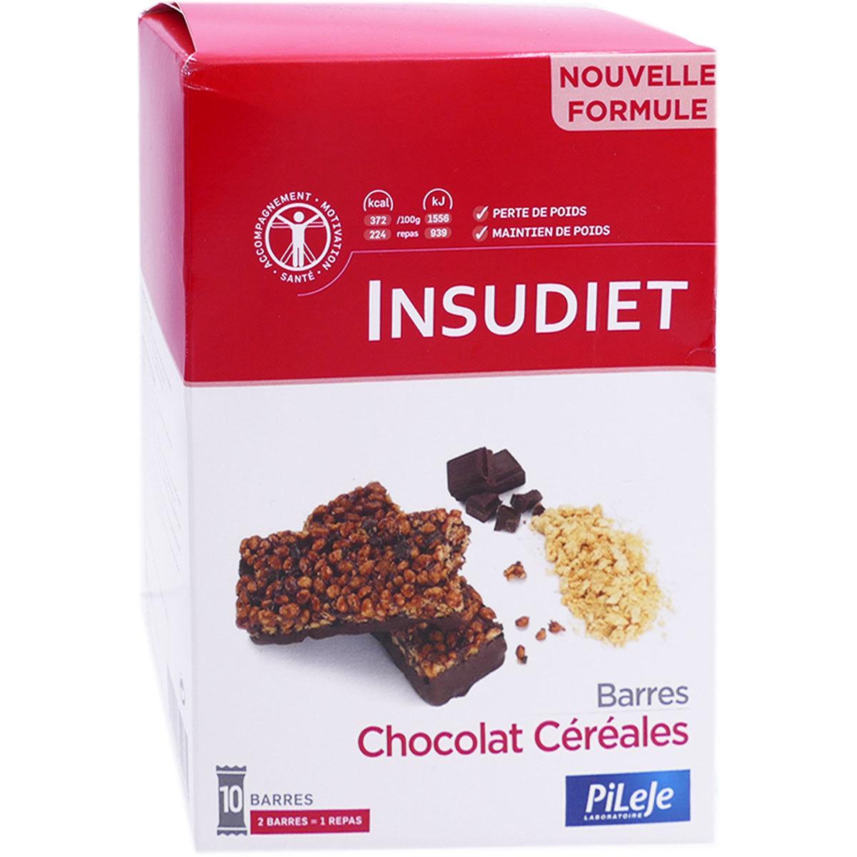 Pileje insudiet 10 barres chocolat cereales 300g