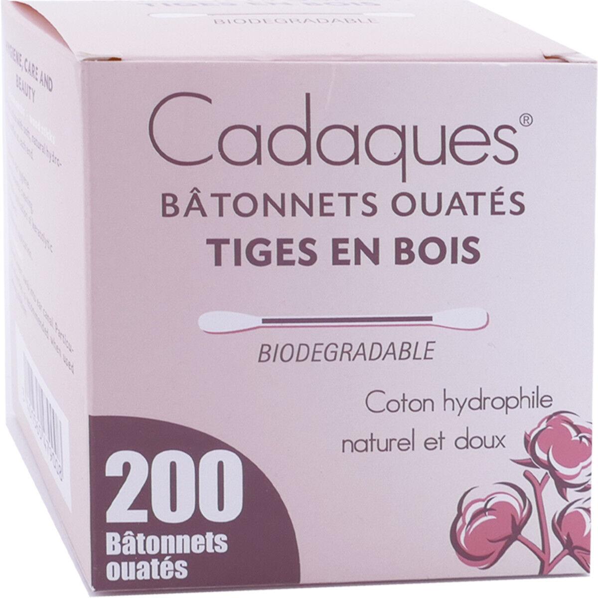 DIVERS Cadaques 200 bÂtonnets ouates coton hydrophile