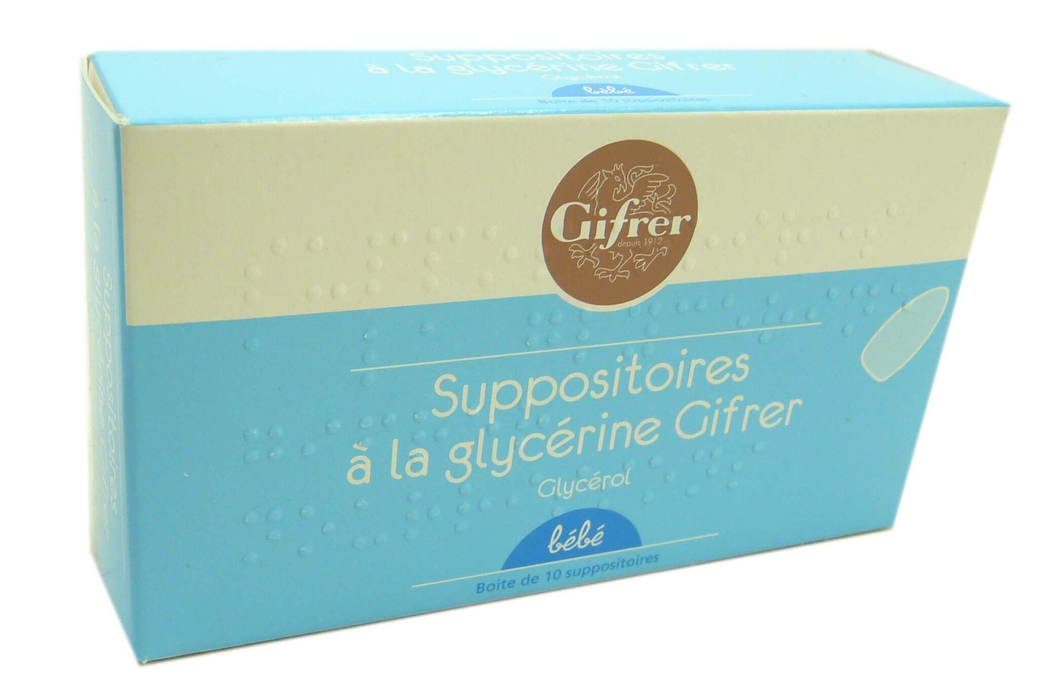 Gifrer suppositoires a la glycerine bebe bt10