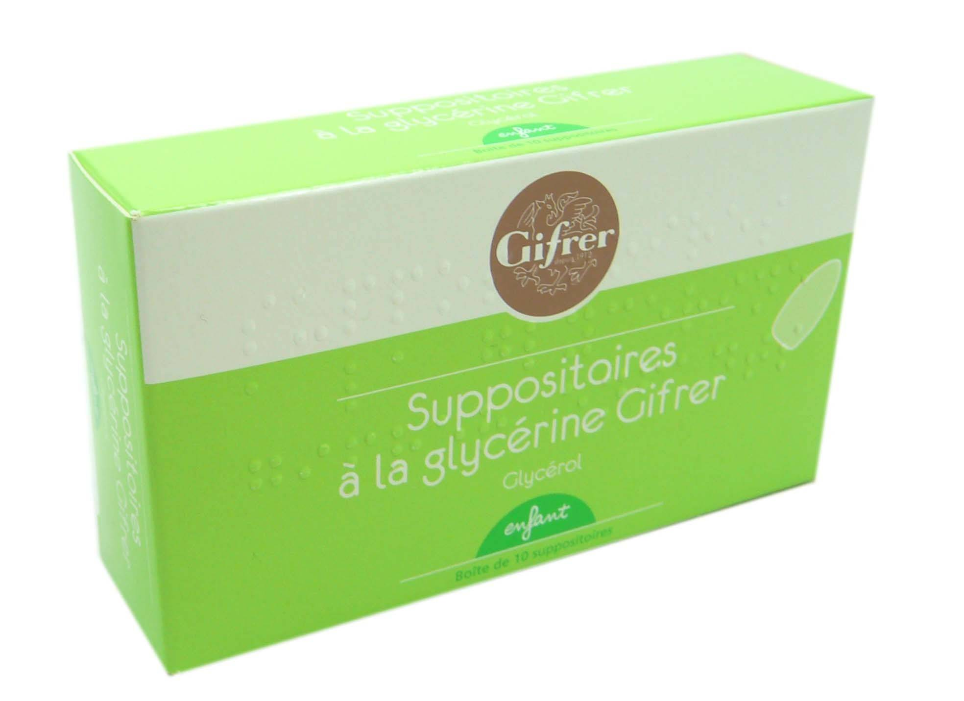 Gifrer suppositoires a la glycerine enfant  bt10