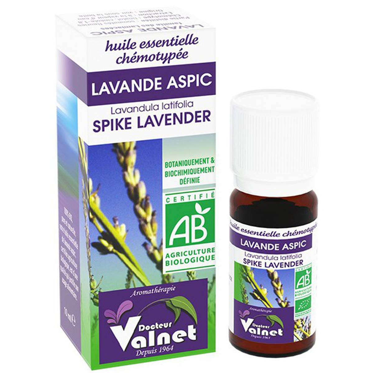 PRANAROM Dr valnet huile essentielle lavande aspic 10ml