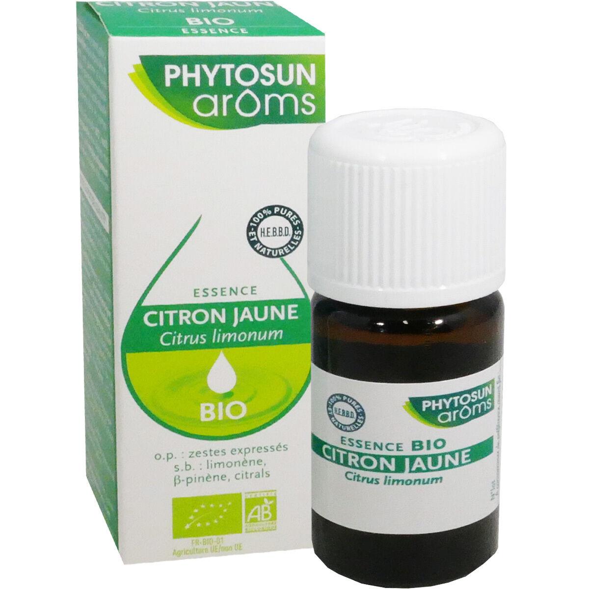 Phytosun aroms huile essentielle citron jaune 10 ml