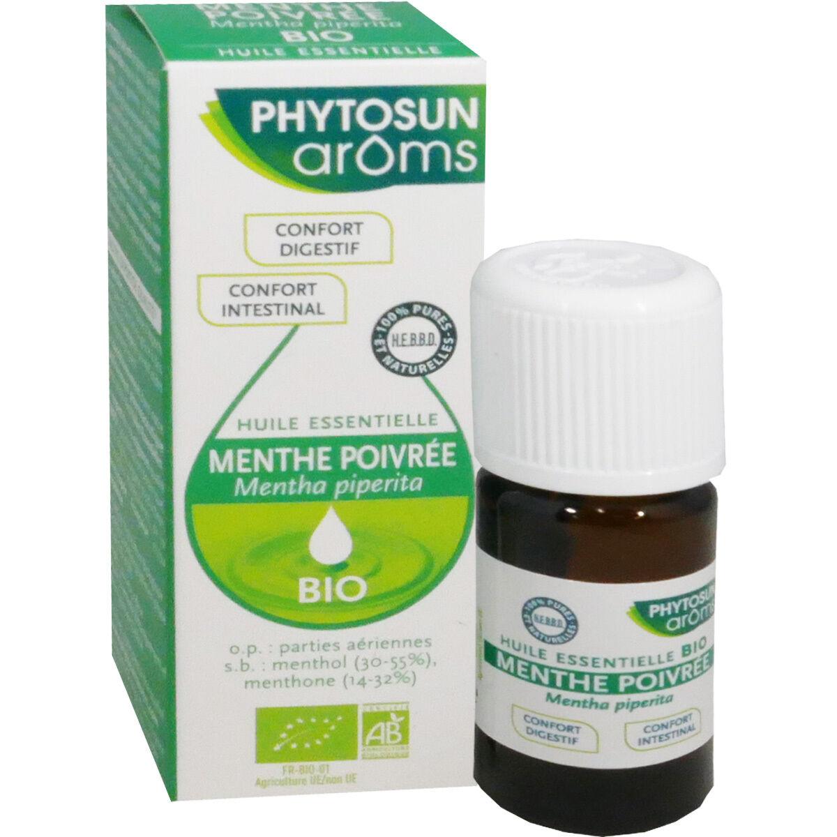Phytosun aroms huile essentielle menthe poivree digestion 10 ml