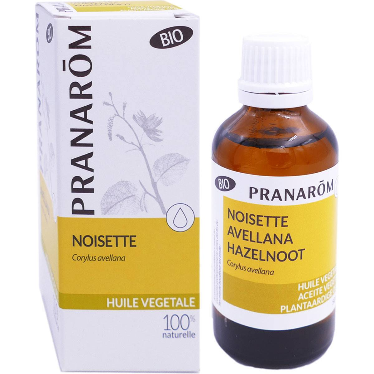 Pranarom huile vegetale bio noisette 50ml