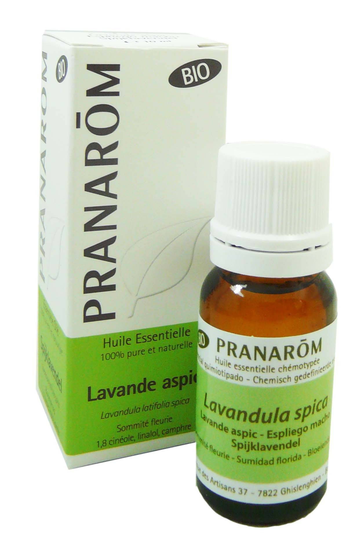 Pranarom huile essentielle bio lavande aspic10ml
