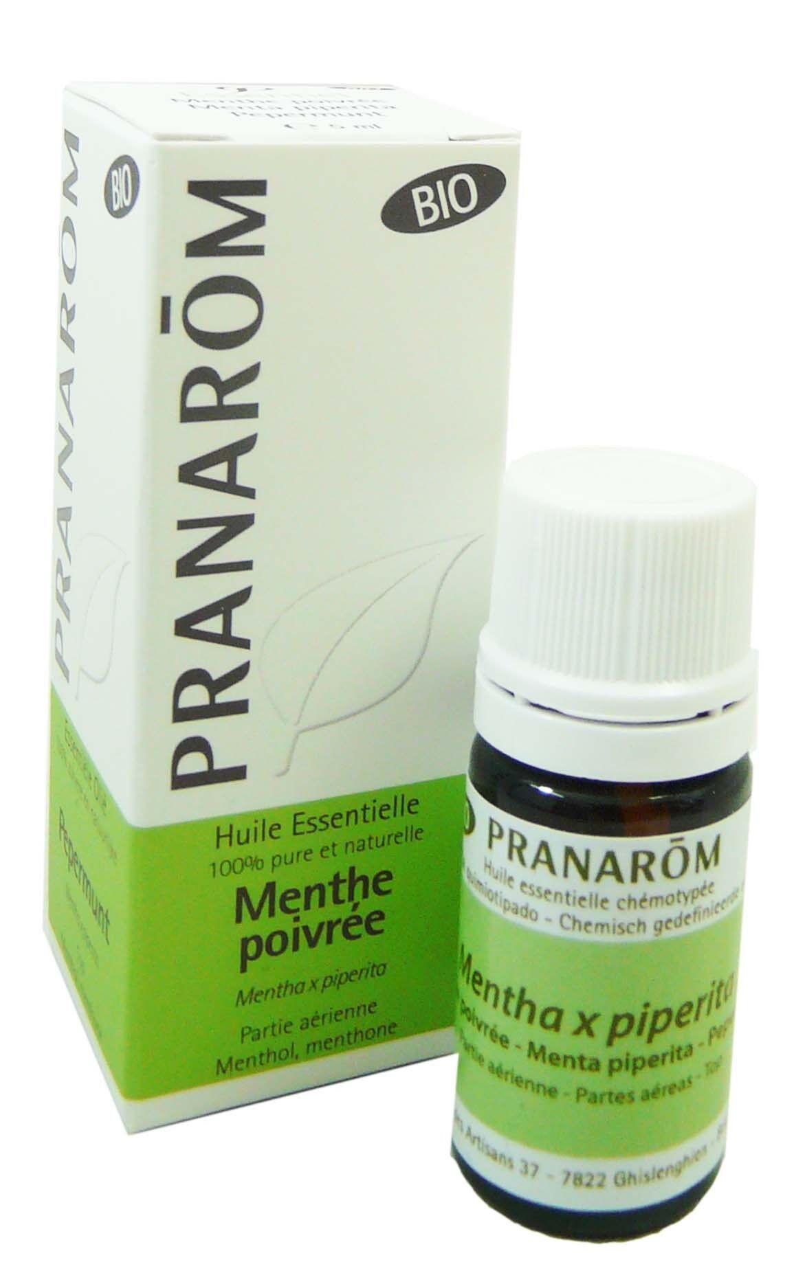 Pranarom huile essentielle bio menthe poivree 5ml