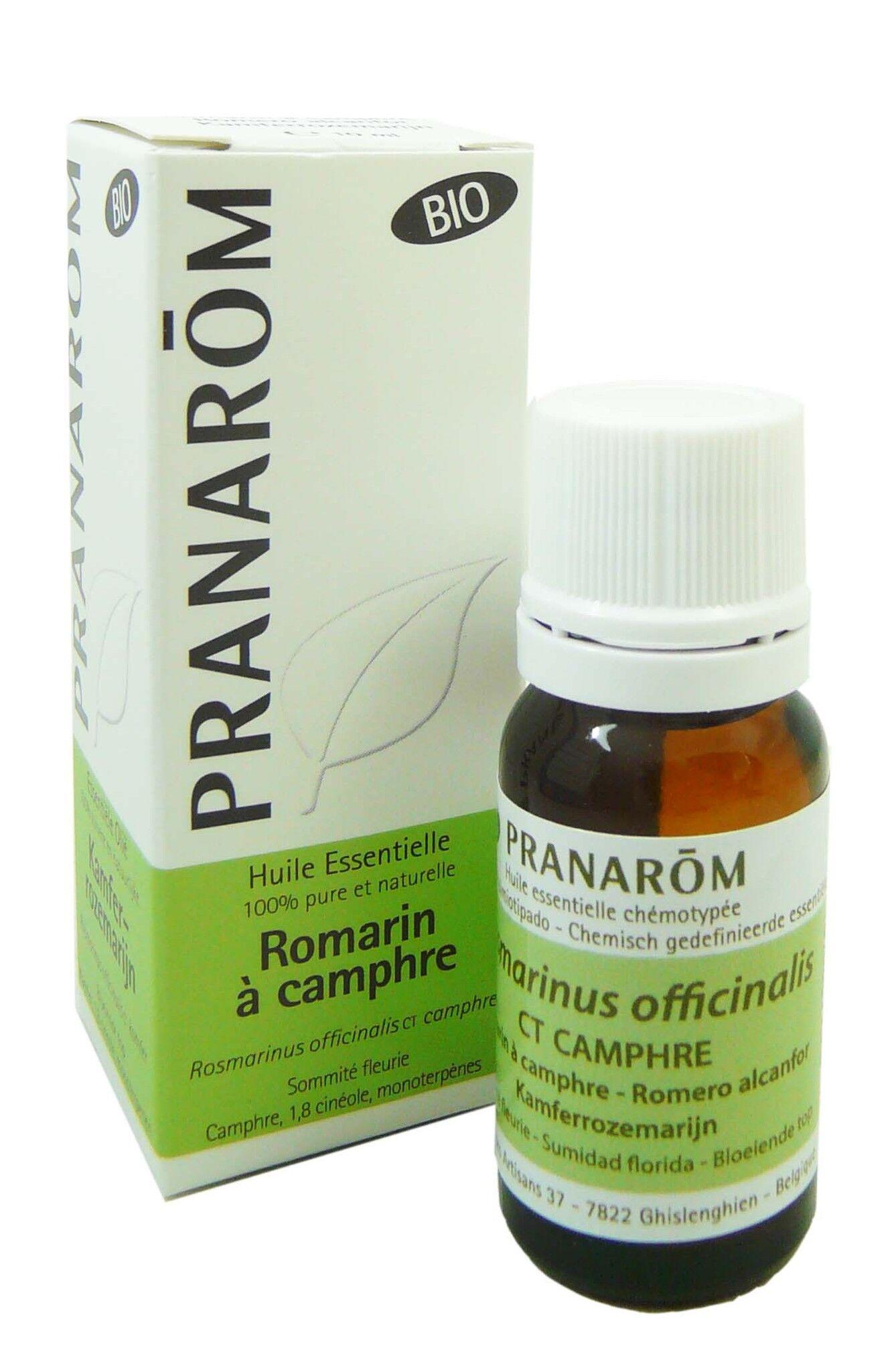 Pranarom huile essentielle bio romarin a camphre 10ml