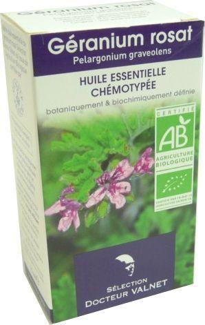 Docteur valnet huile essentielle rose geranium 10ml bio