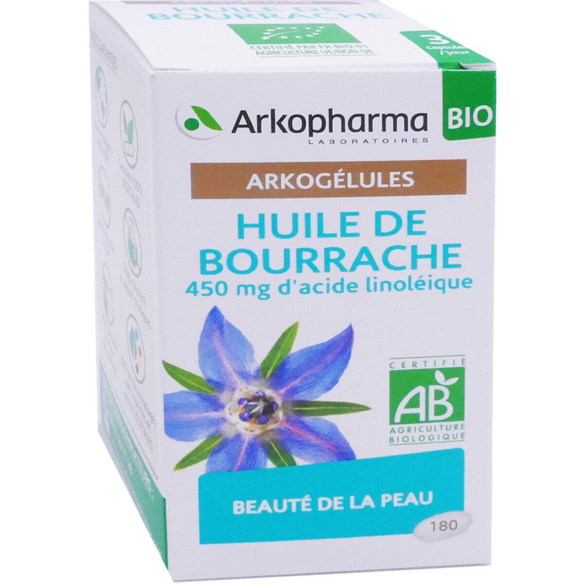Arkopharma huile de bourrache 180 arkogelules bio