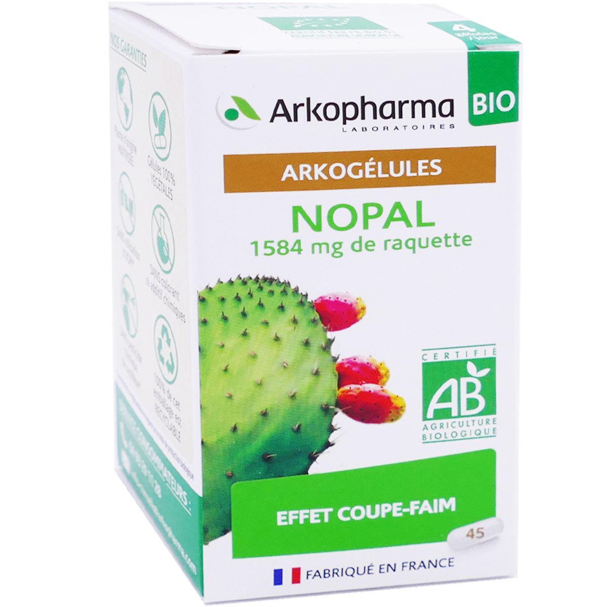 Arkopharma nopal coupe faim 45 arkogelules
