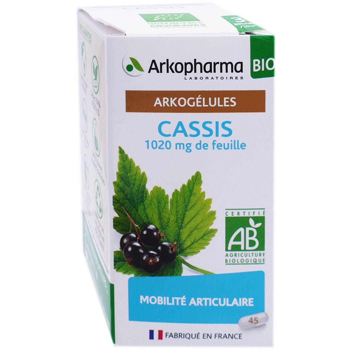 Arkopharma arkogelules bio cassis 45 gelules