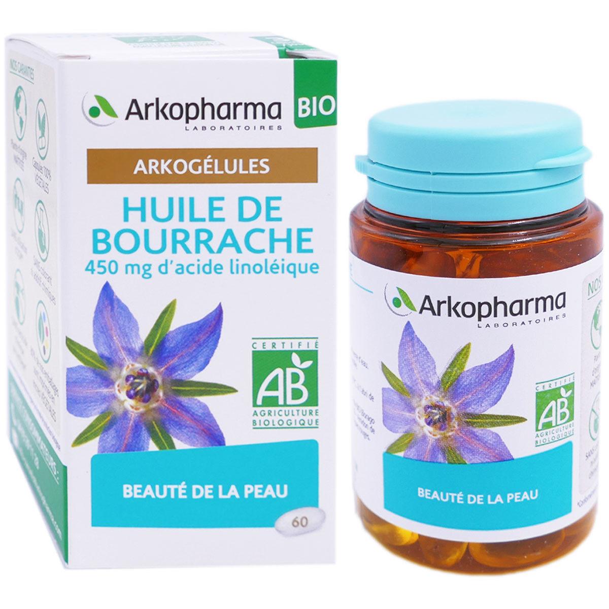 Arkopharma huile de bourrache bio 60 gelules