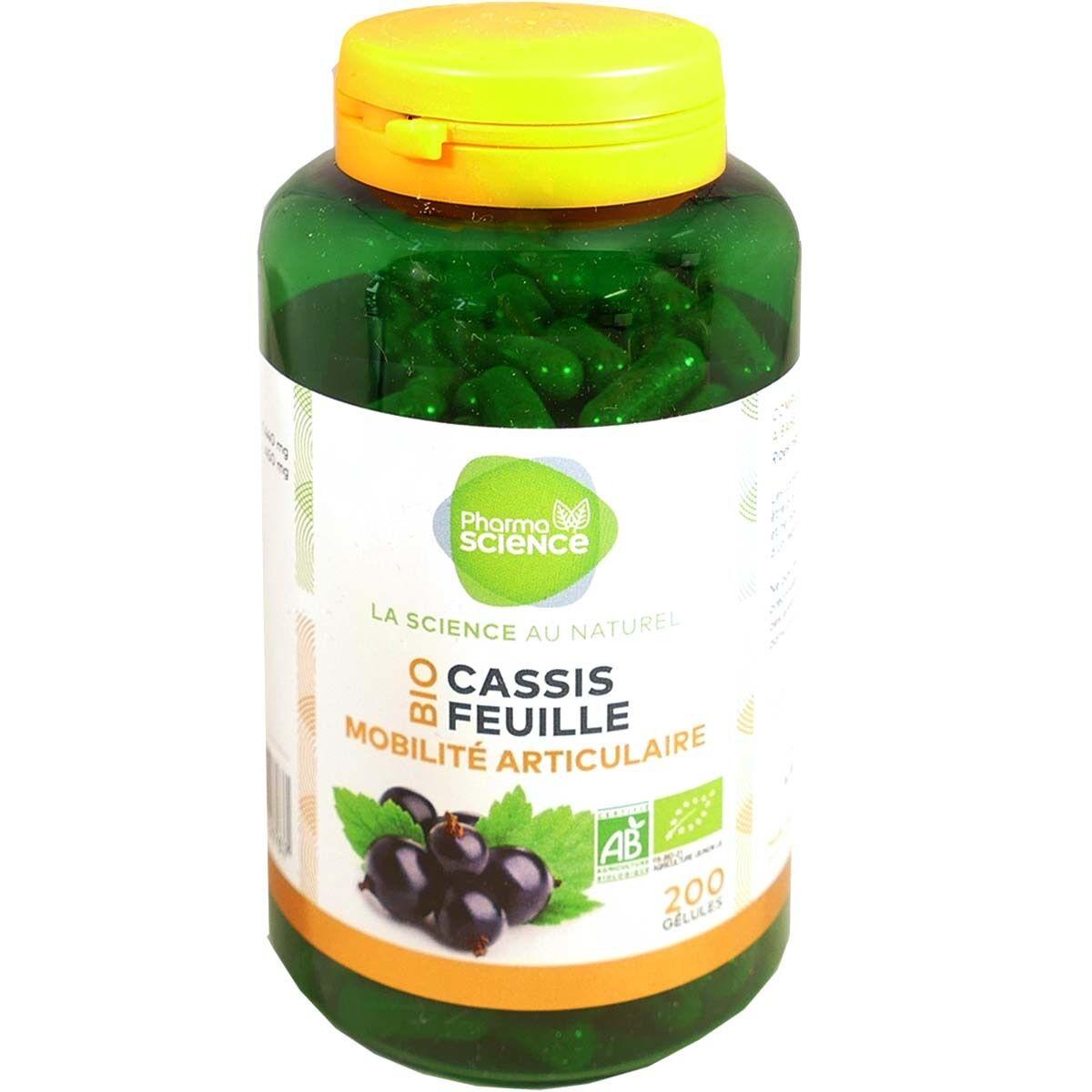 Pharmascience cassis feuille bio 200 gelules