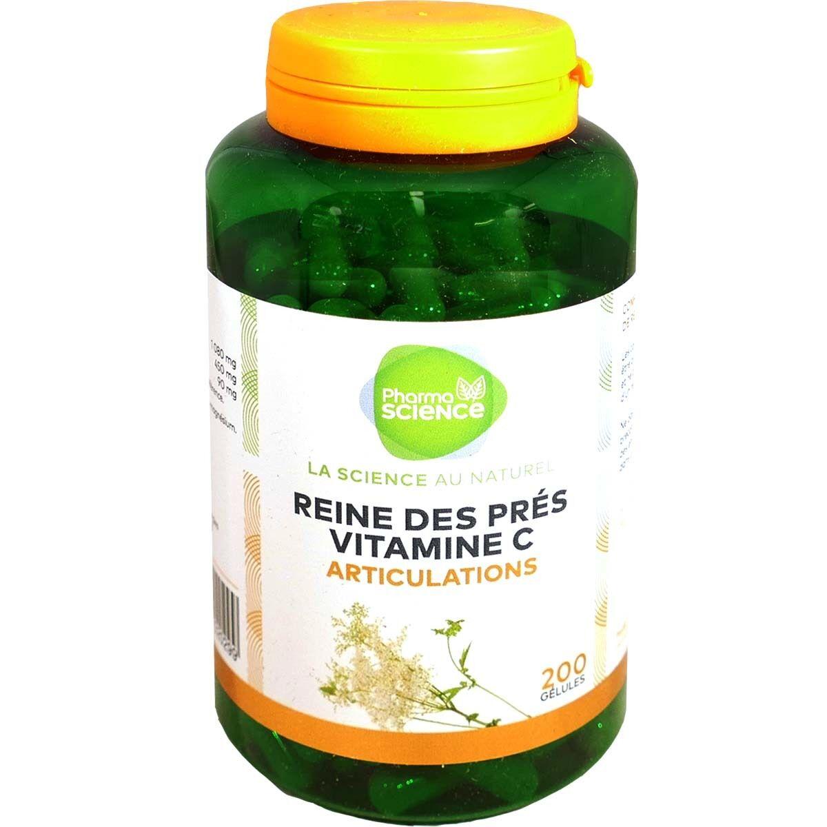 Pharmascience reine des pres vitamine c bio 200 gelules