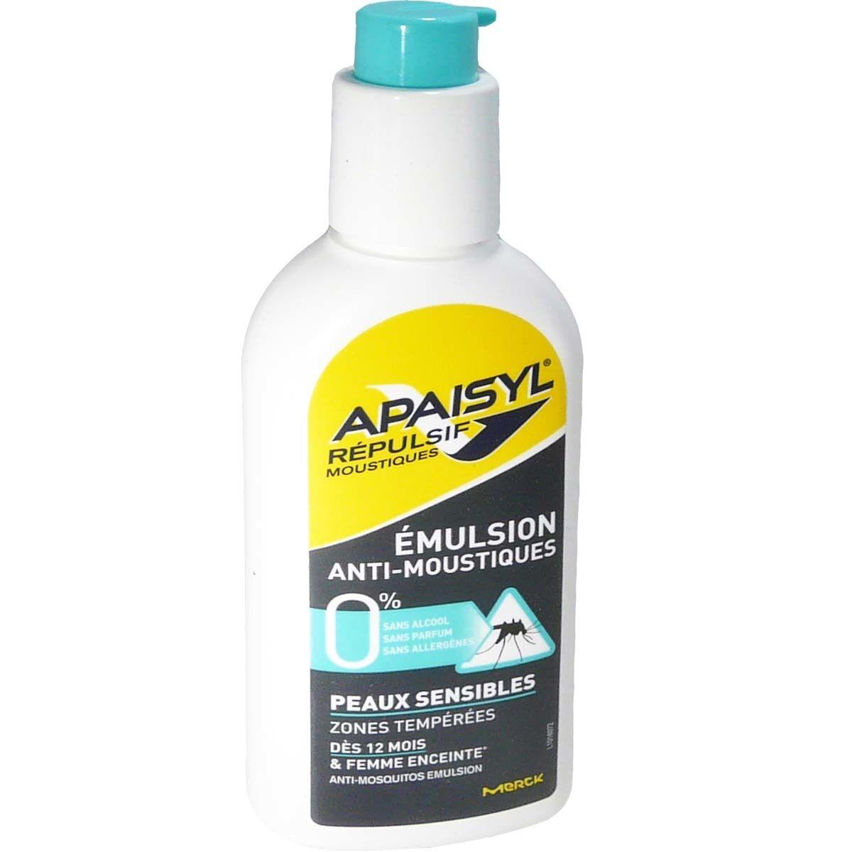 Apaisyl emulsion anti-moustique peaux sensibles 90ml