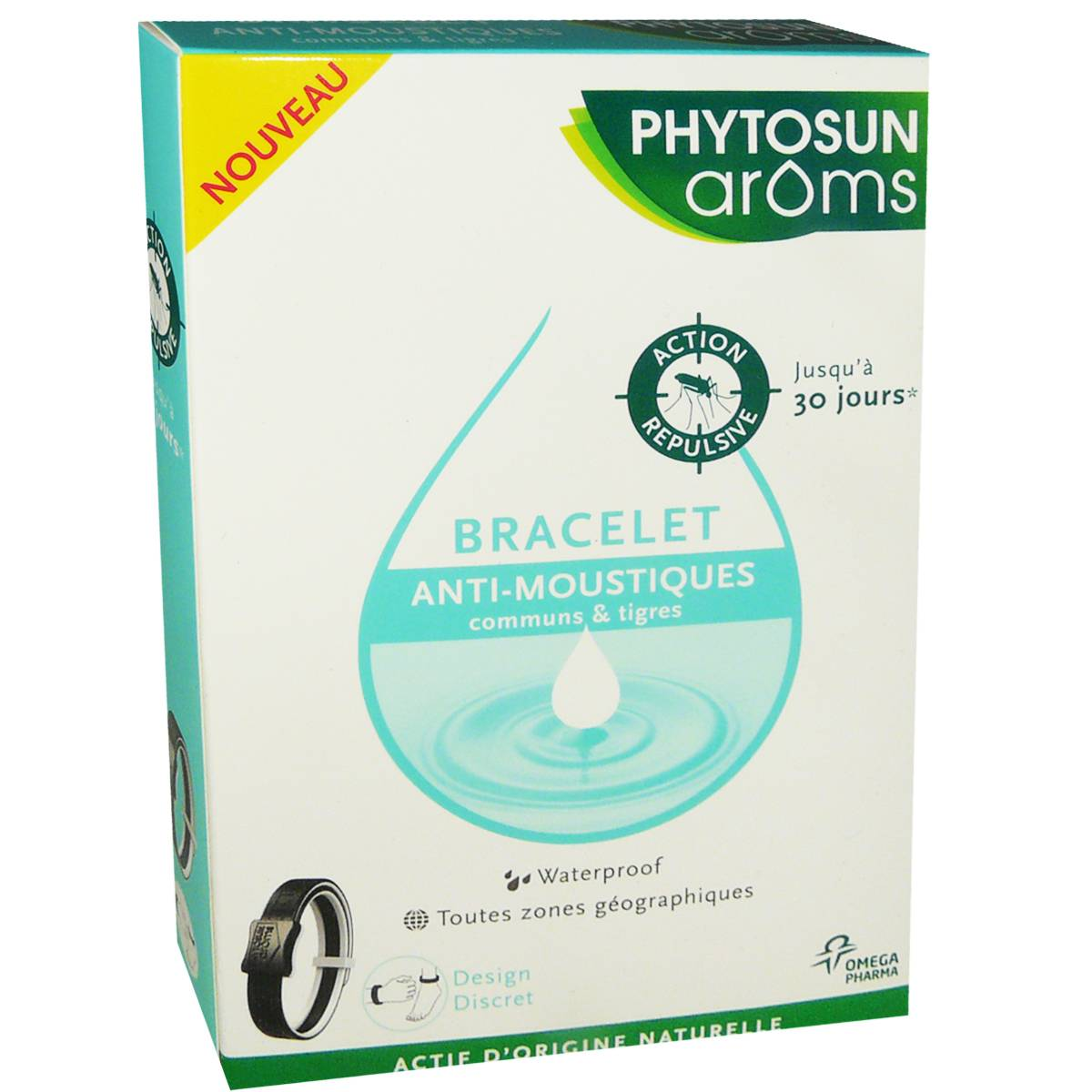 Phytosun aroms bracelet anti-moustiques waterproof