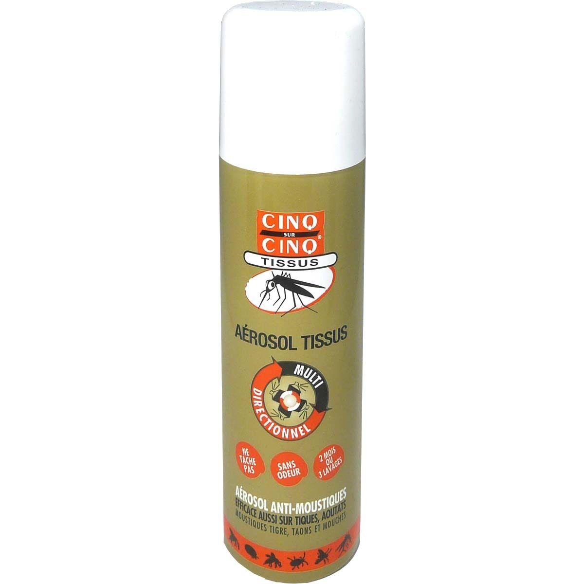 Cinq sur cinq aerosol tissus anti-moustiques 150ml