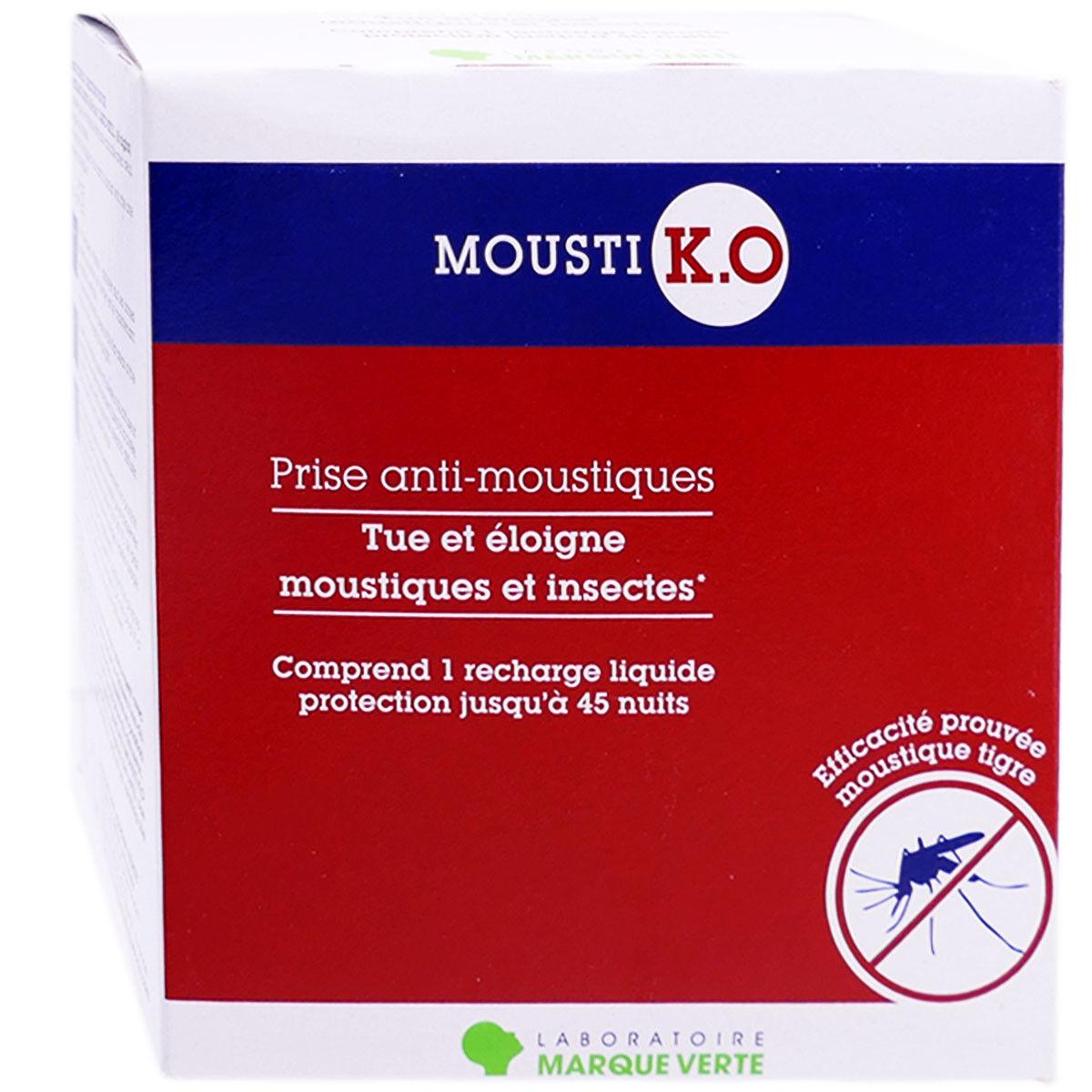 Marque verte mousti k.o prise anti moustiques
