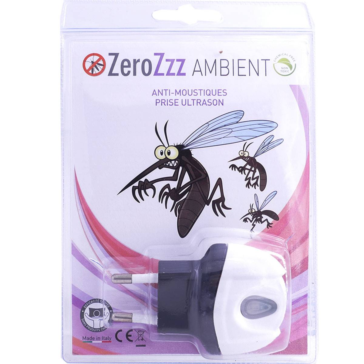 DIVERS Zerozzz ambient anti moustiques prise ultrason