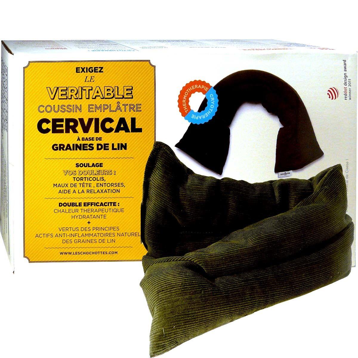DIVERS Les chochottes coussin emplatre cervical en graines de lin