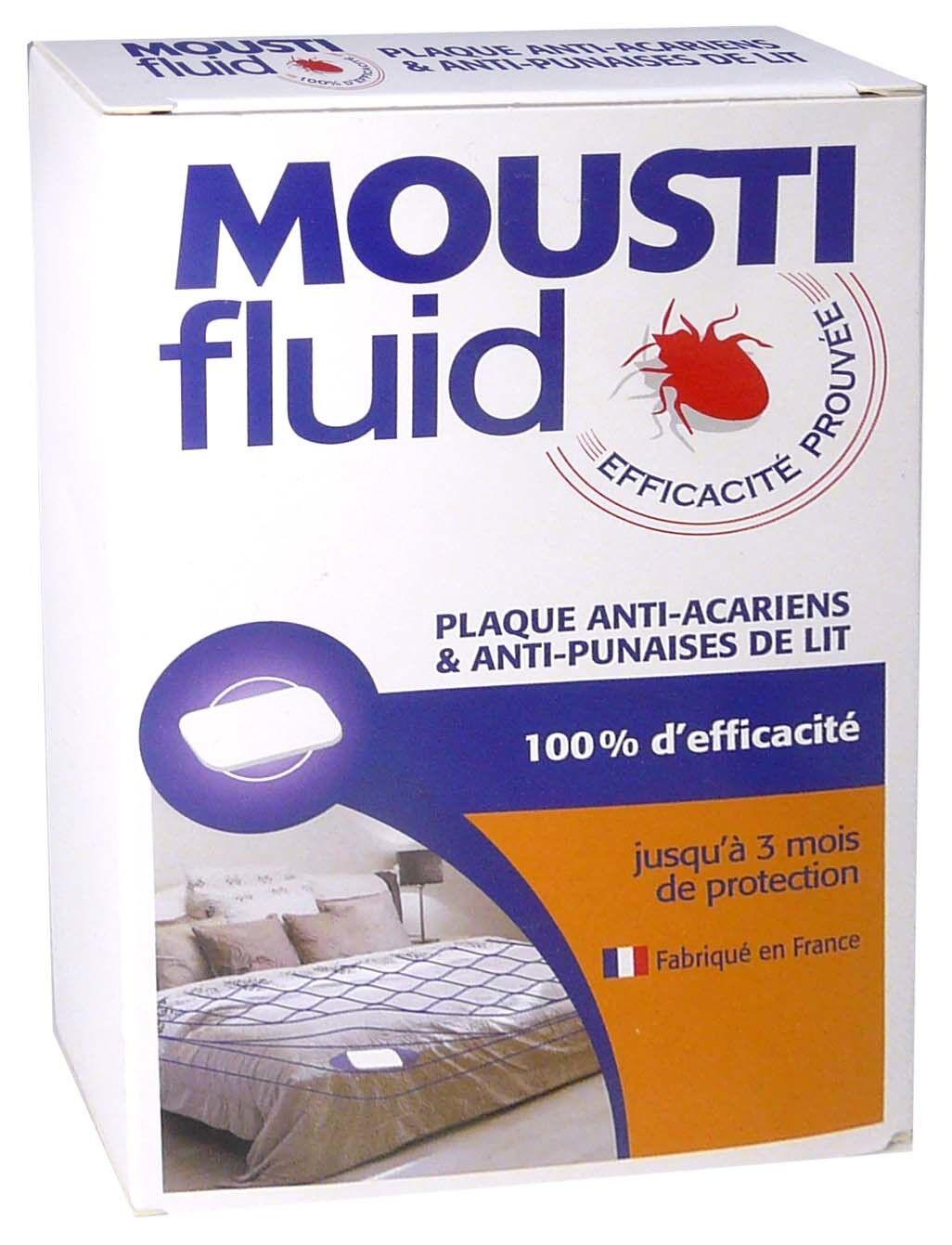 GIFRER Moustifluid plaque anti-acariens et punaises de lit