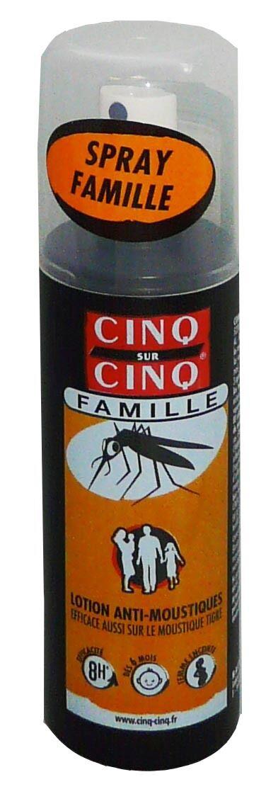 Cinq sur cinq famille lotion anti moustique 100ml