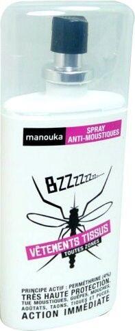 Manouka spray anti-moustique vetements tissus 75ml
