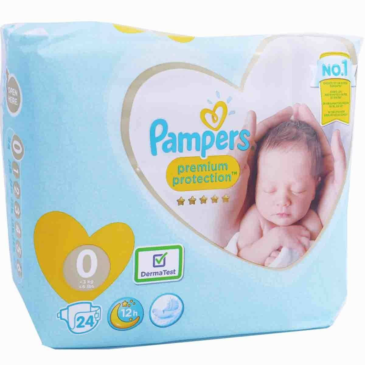 Pampers premium protection 24 couches