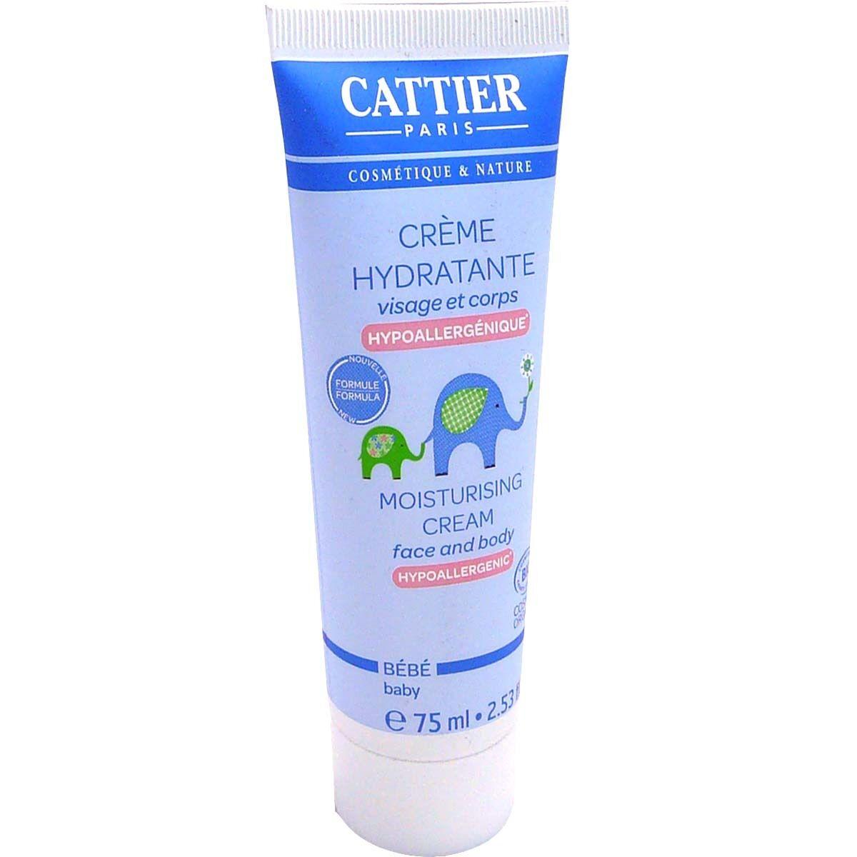 Cattier bebe creme hydratante bio visage et corps 75ml
