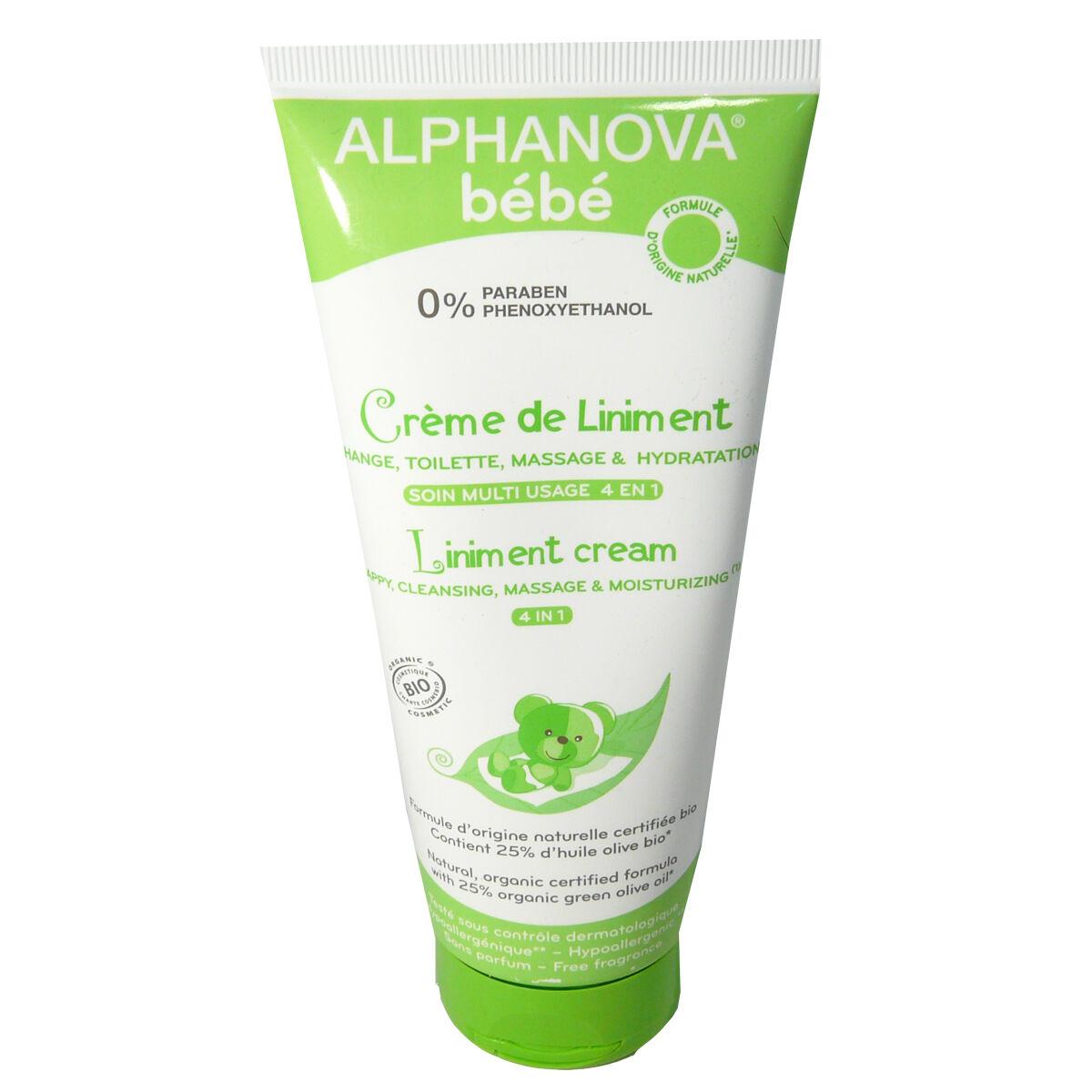 Alphanova bebe creme de liniment 4 en 1 200 ml
