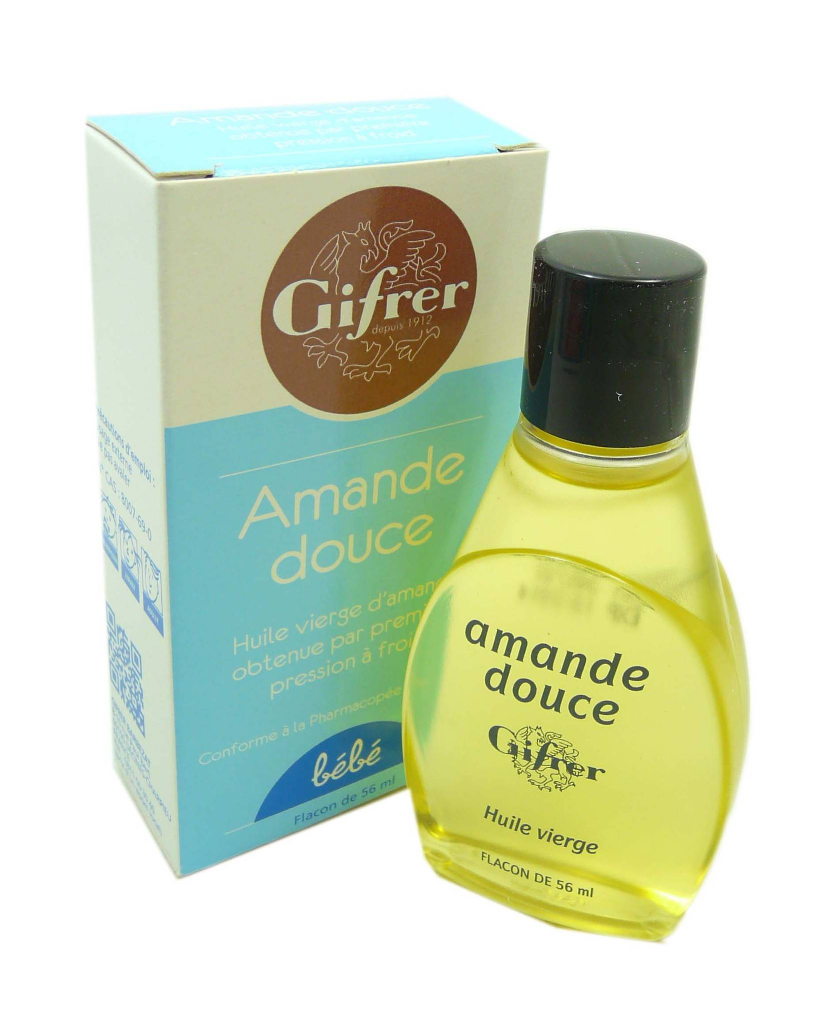 Gifrer huile amande douce vierge 56 ml
