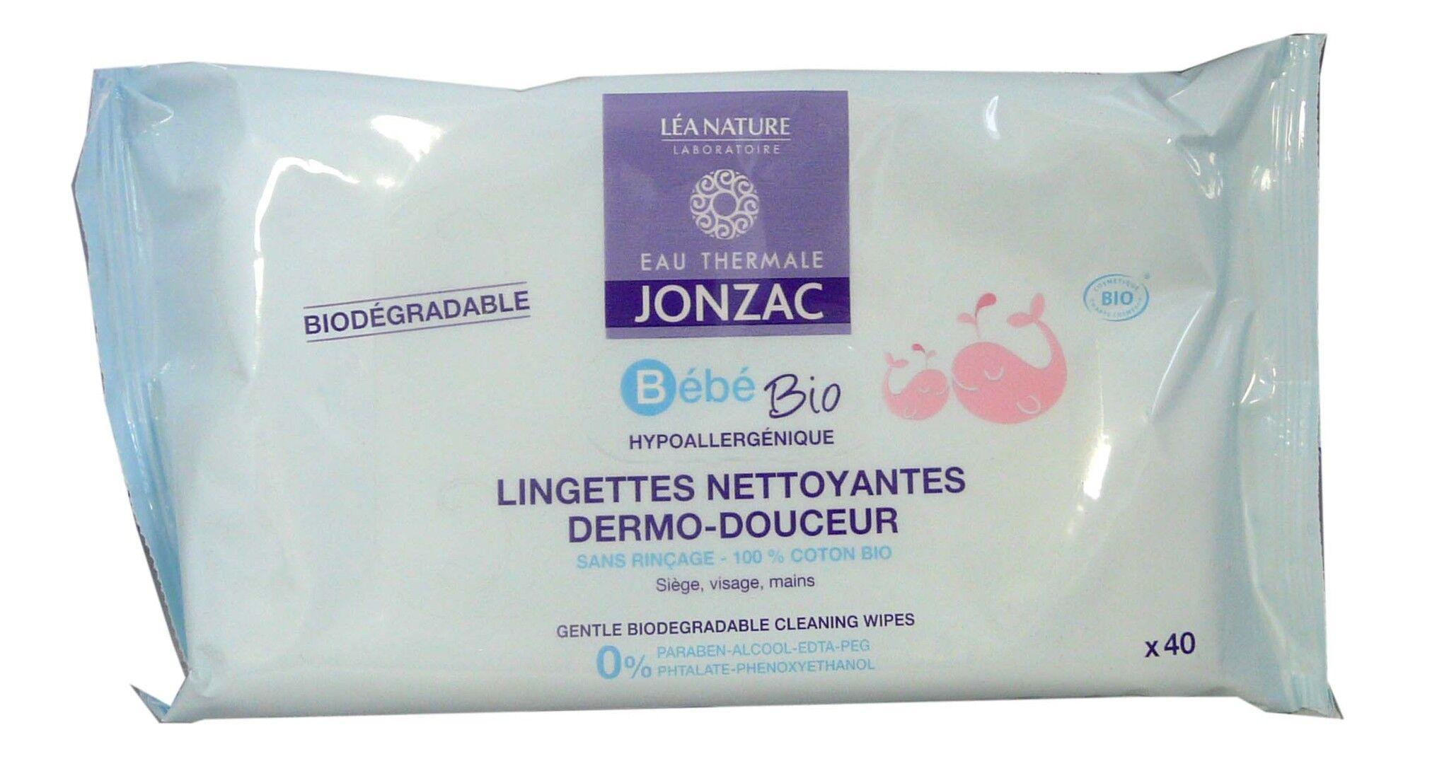 Jonzac bebe lingettes nettoyantes bio x40