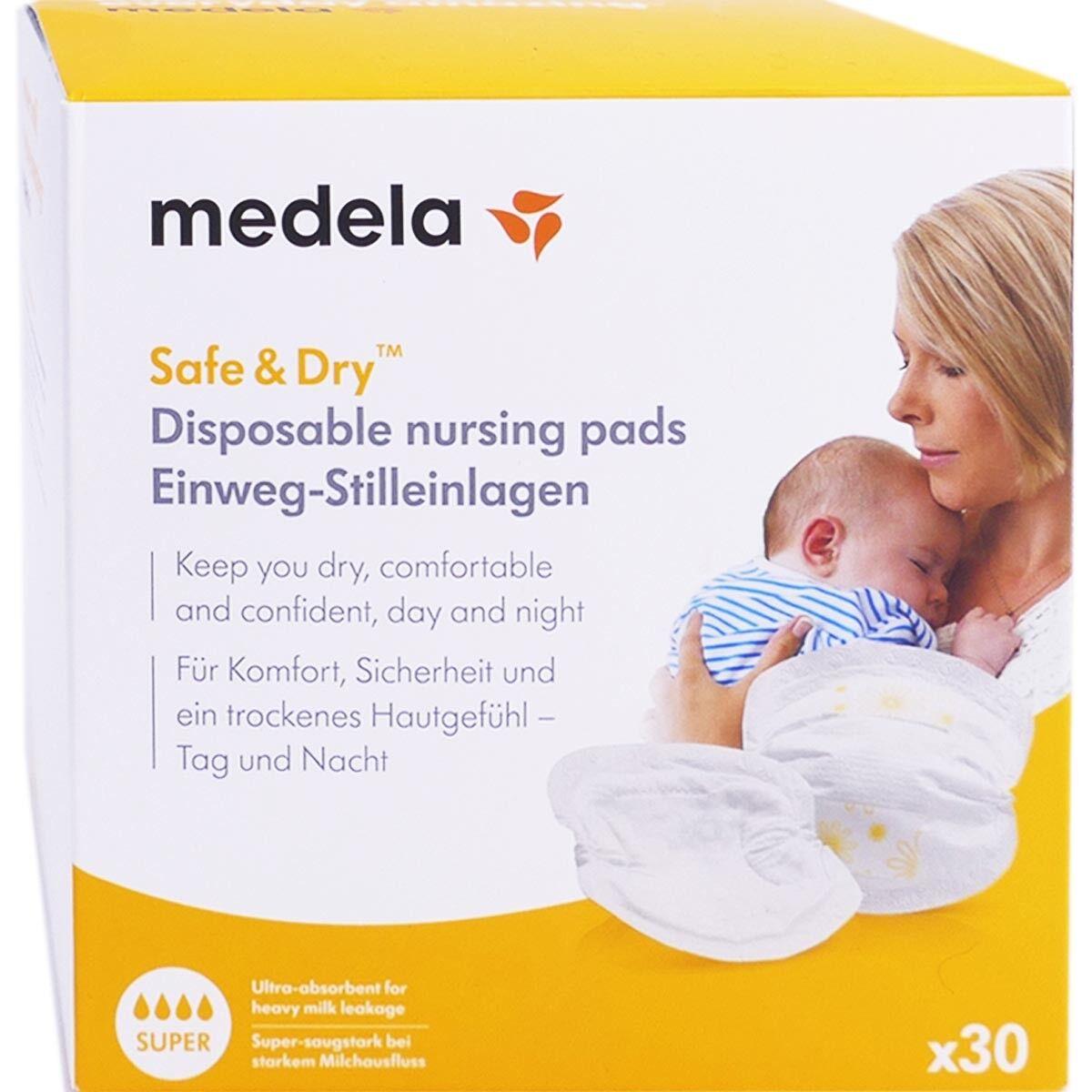 Medela safe & dry super coussinets d'allaitement x30