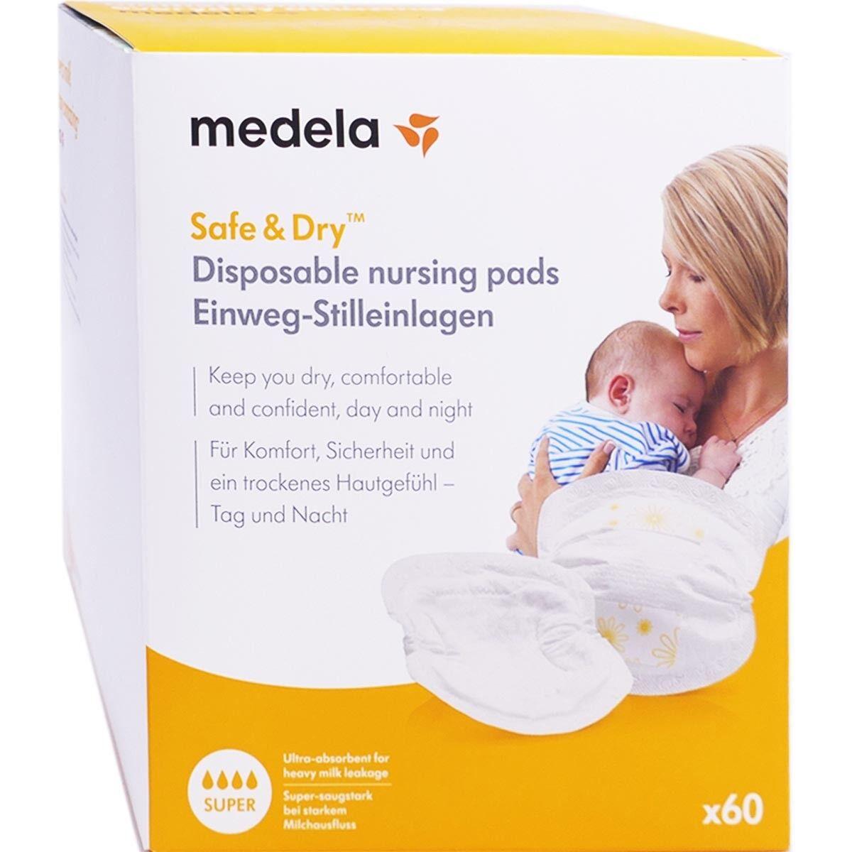 Medela safe & dry super coussinets d'allaitement x60