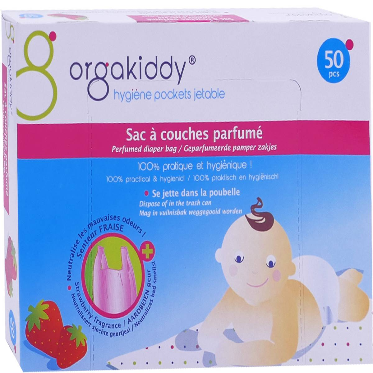 Orgakiddy 50 sacs a couches parfumes
