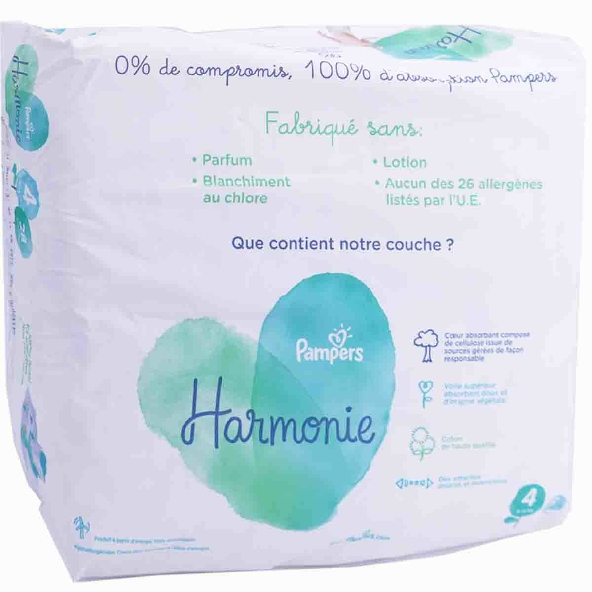 Pampers 4 harmonie 28 couches
