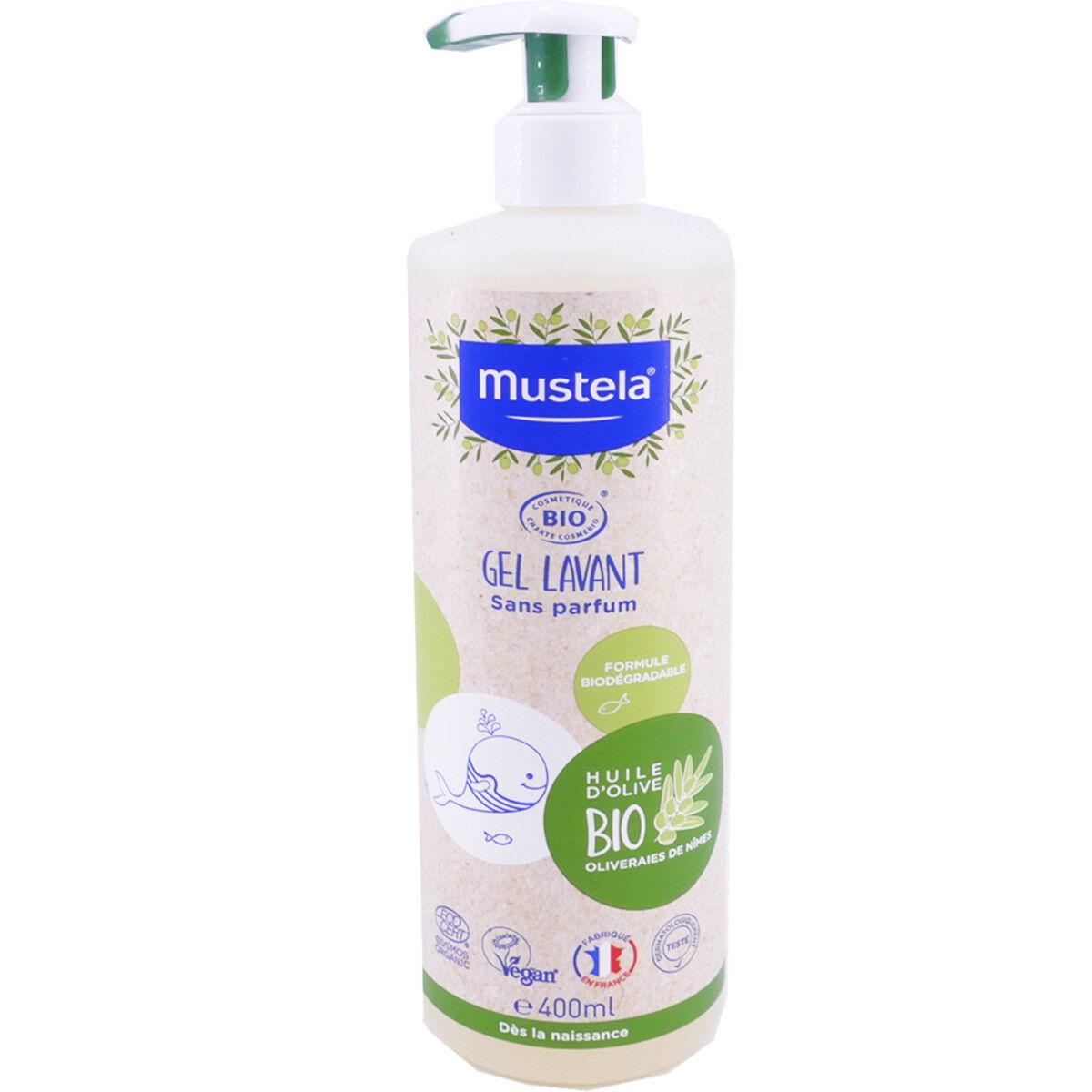 Mustela gel lavant bio 400 ml