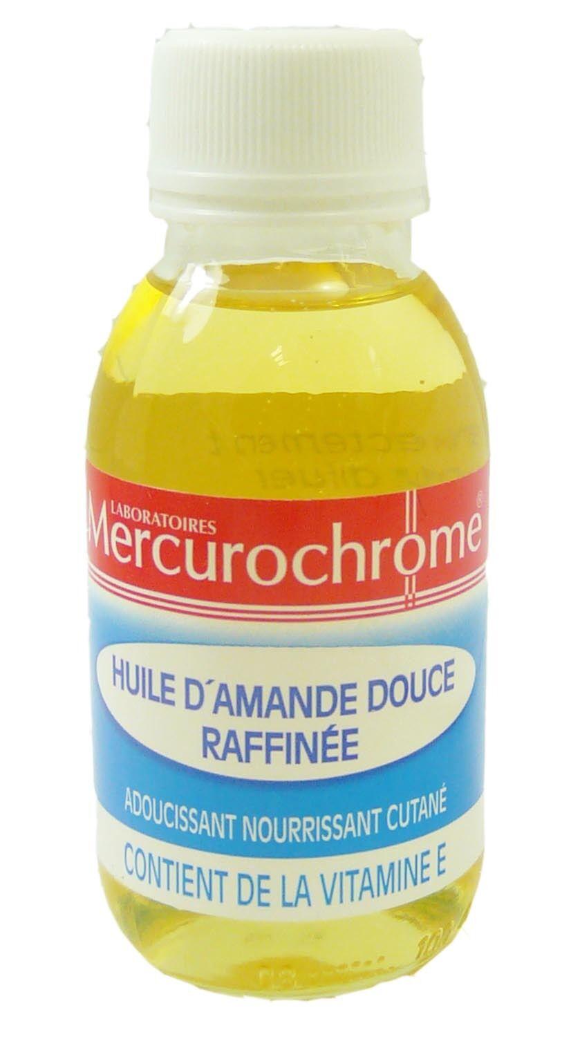 Mercurochrome huile d'amande douce raffinee 100ml