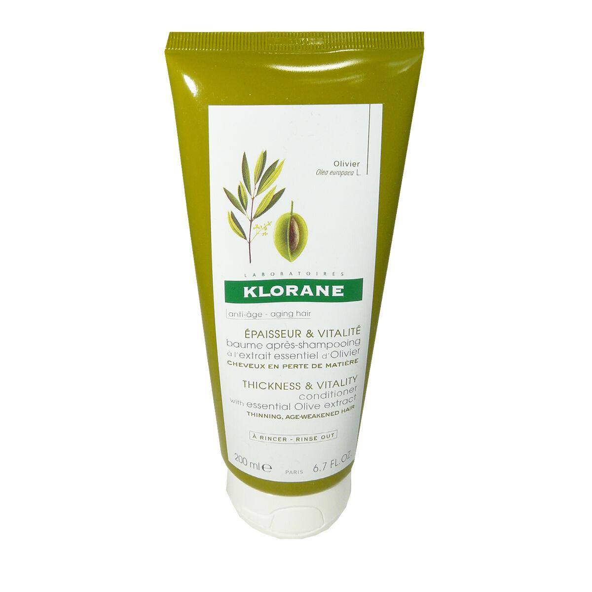 Klorane anti-age epaisseur & vitalite 200 ml a l'extrait essentiel d'olivier