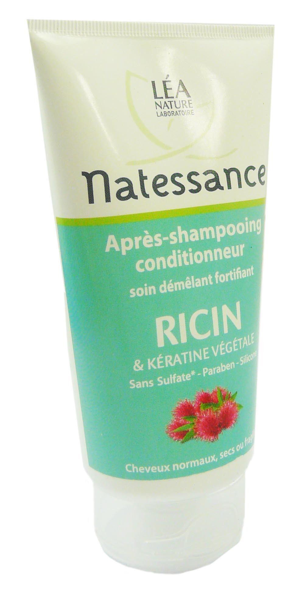 Natessance apres-shampooing a l'huile de ricin 150ml