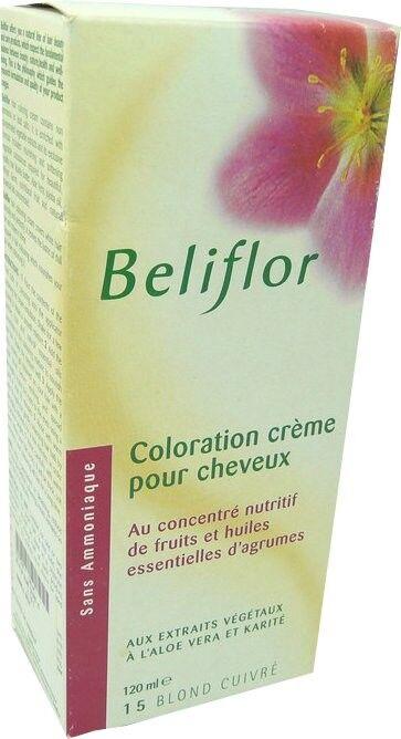 Beliflor coloration creme 15 blond cuivre 120 ml