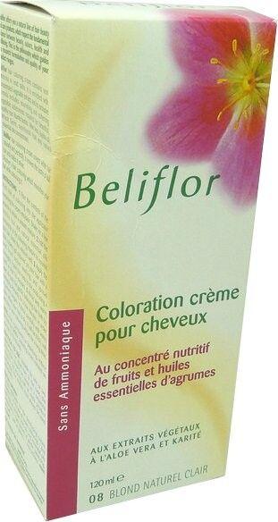 Beliflor coloration creme 8 blond naturel clair 120 ml