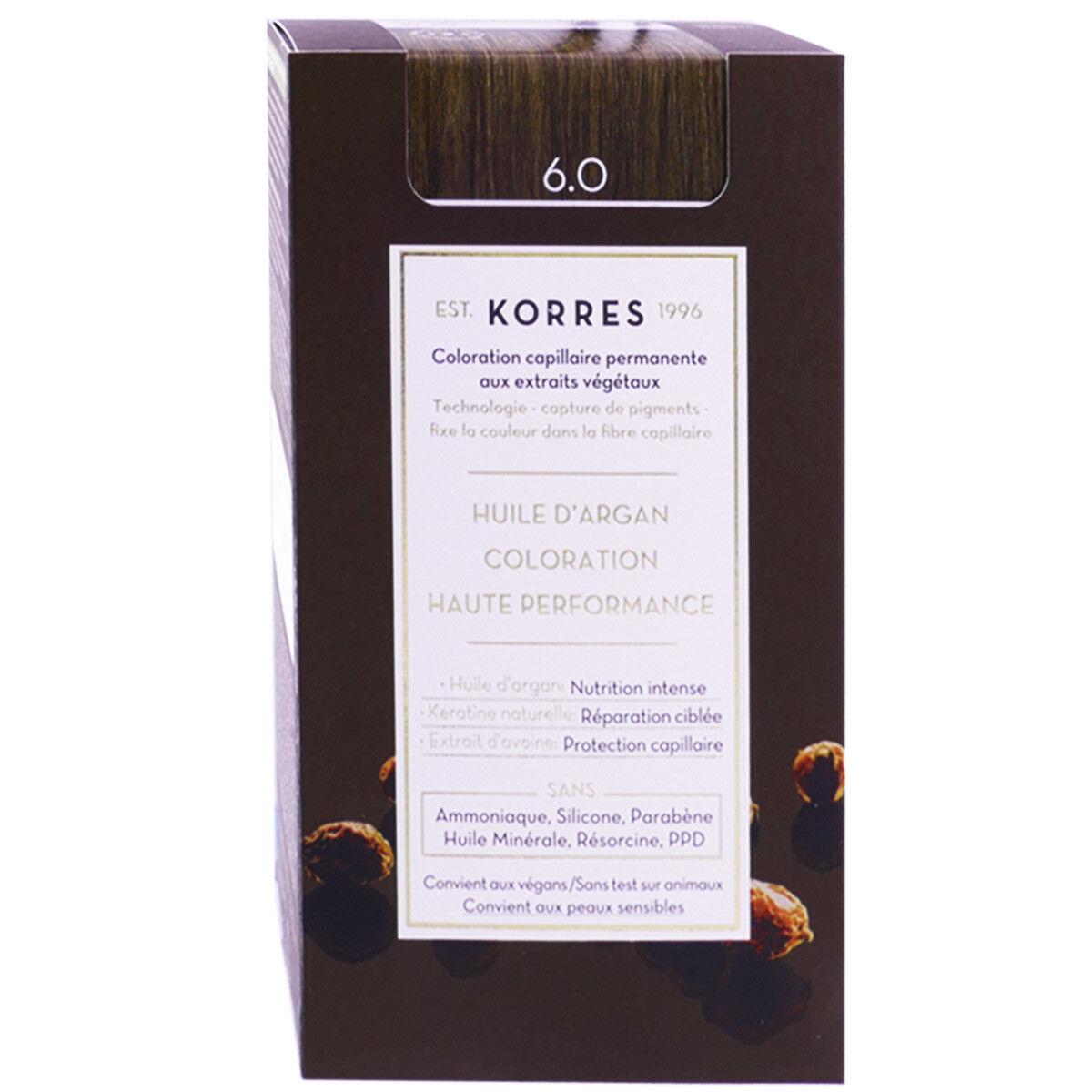 Korres coloration permanente huile argan dark blonde