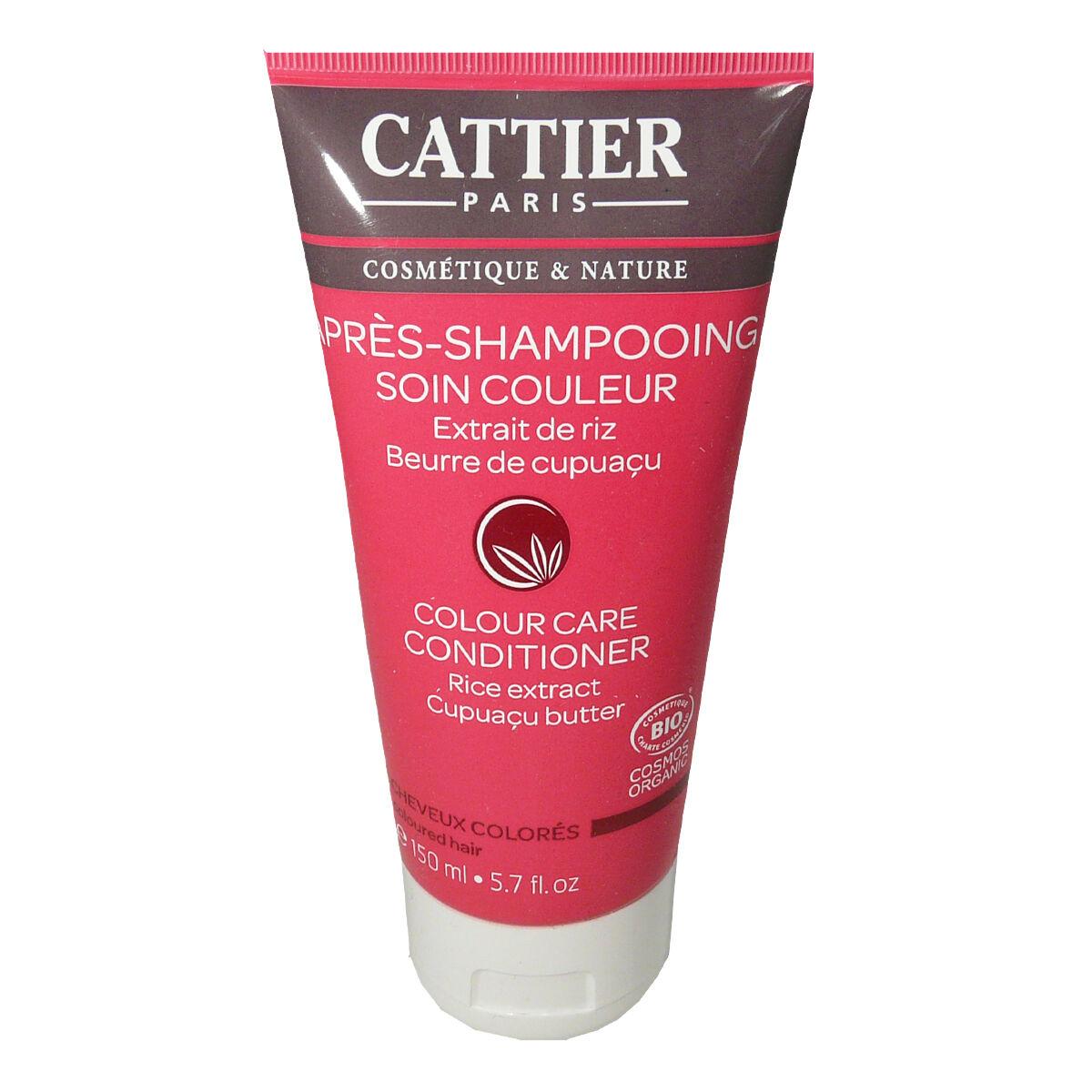 Cattier apres-shampooing soin couleur extrait de riz beurre de cupuacu 150 ml