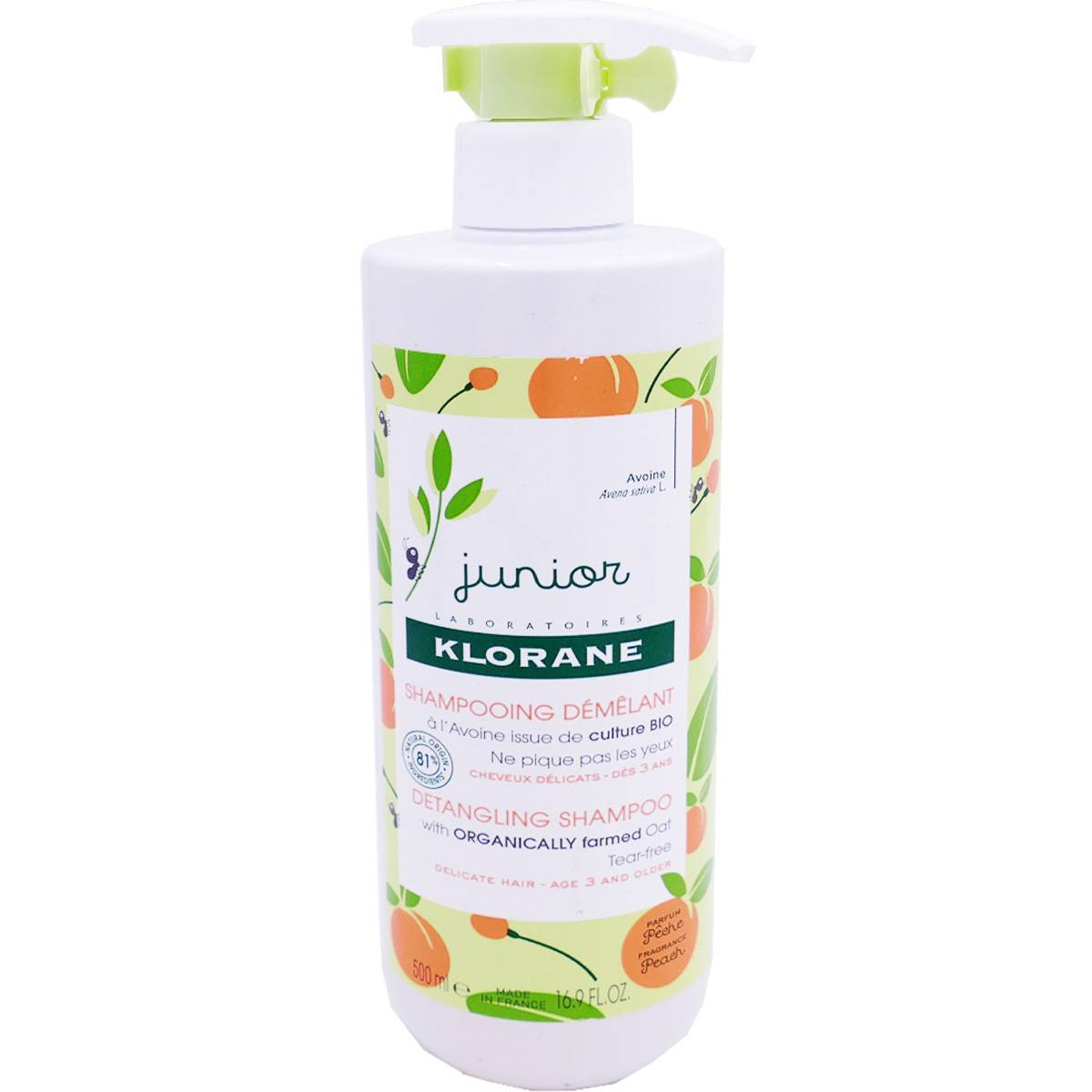 Klorane junior shampooing demelant 500 ml