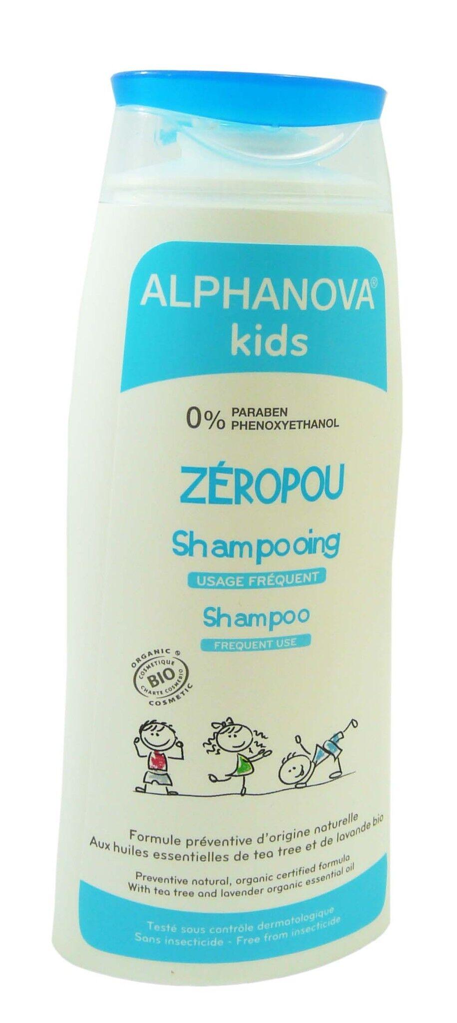 Alphanova kids zeropou shampooing bio 200ml