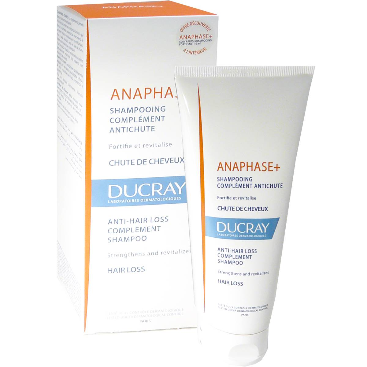 Ducray anaphase+ shampooing complement anti-chut 200ml